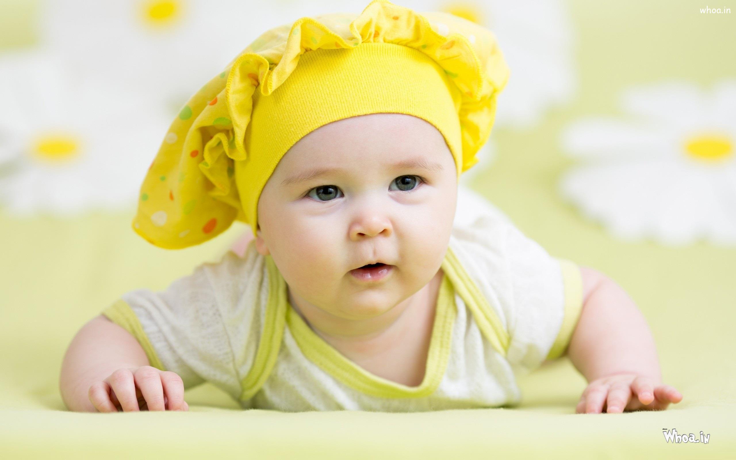 Yellow Newborn Baby Knitted Hat Hd Newborn Baby Wallpaper