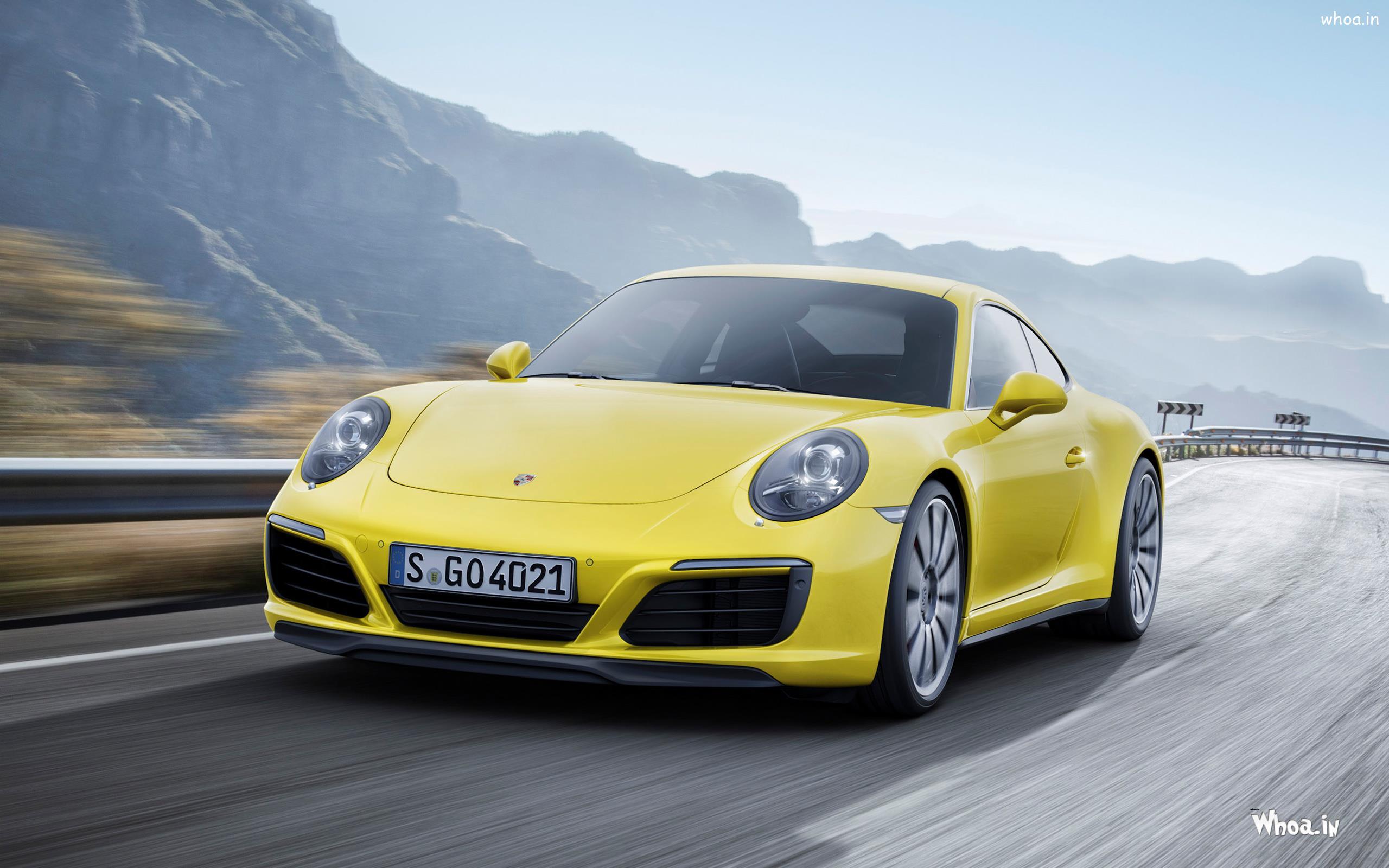 Yellow Porsche Upcoming Model 2017 Hd Wallpaper